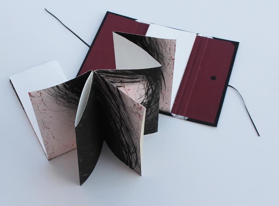 DAJANA RADOŠ - Moja I, 2017., knjiga umjetnika: kombinirana tehnika, 26x14x2,5cm