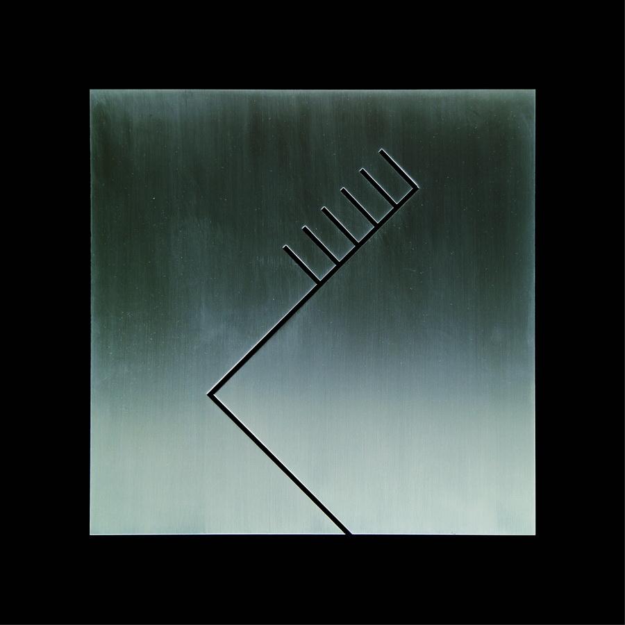 DARKO SEVER - Trepavica-IRO19, 2016., reljef: inox/čelik/drvena ploča, 42x42cm
