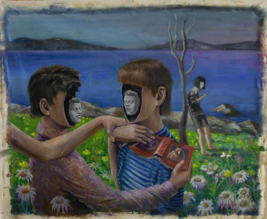 JELENA SOKIĆ : A-VOID, 2016., slika: ulje/platno, 97x117cm