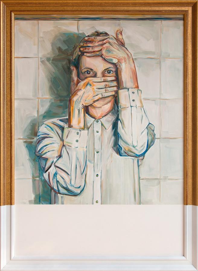 KAJA URH - It's me… Loading., 2016., slika: akril/platno, 109x79cm
