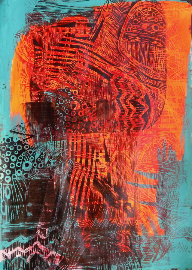 MARIJA LOPAC - When you think you know but not, 2015., grafika, 100x70cm
