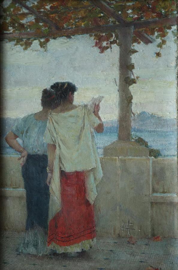Mato Celestin Medović - Pompejanke na terasi 1896.
