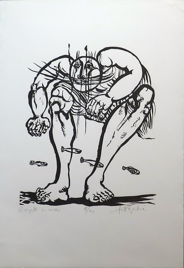 Čovjek u vodi, 1963.; linorez