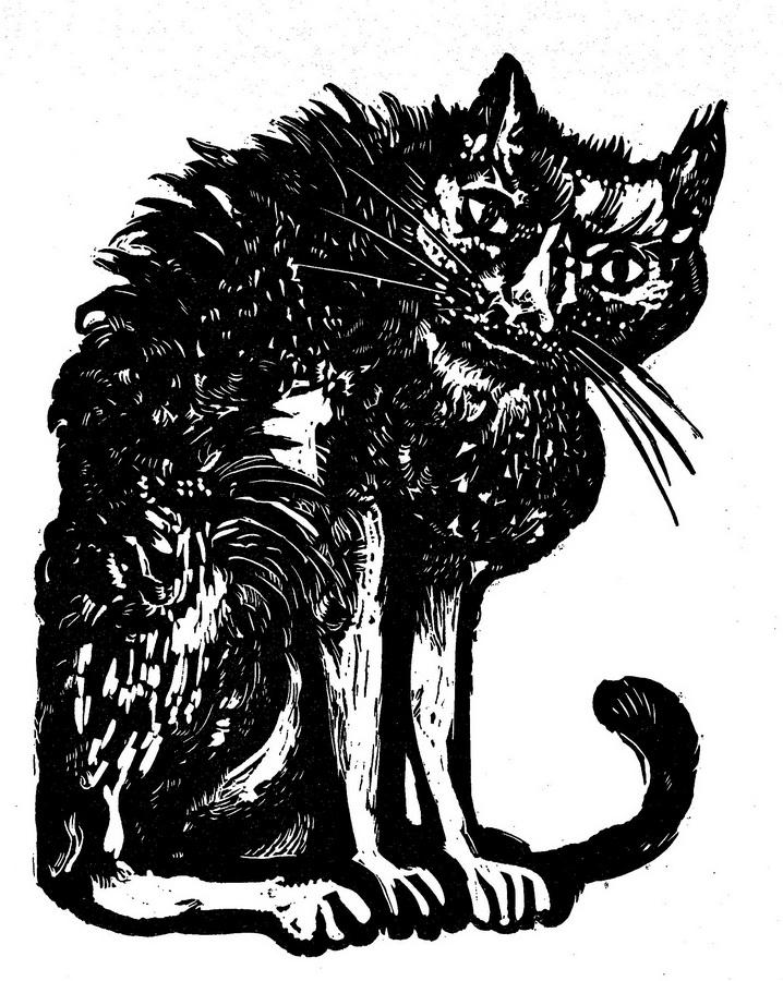 Veliki mačak, 1964.; linorez (foto: Dražen Bota)