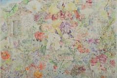 My fairytale garden - akvarel, 100cmx70cm, 2020.
