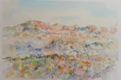 Planina - akvarel, 20x30cm, 2018.