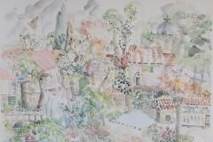 Risan landscape - akvarel, 50x70cm, 2020.