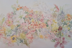 Summer flowers - akvarel, 100cmx70cm, 2020.