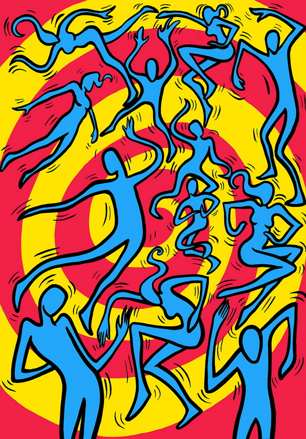 Dance, 2002, 85x67 cm, acrylic on masonite