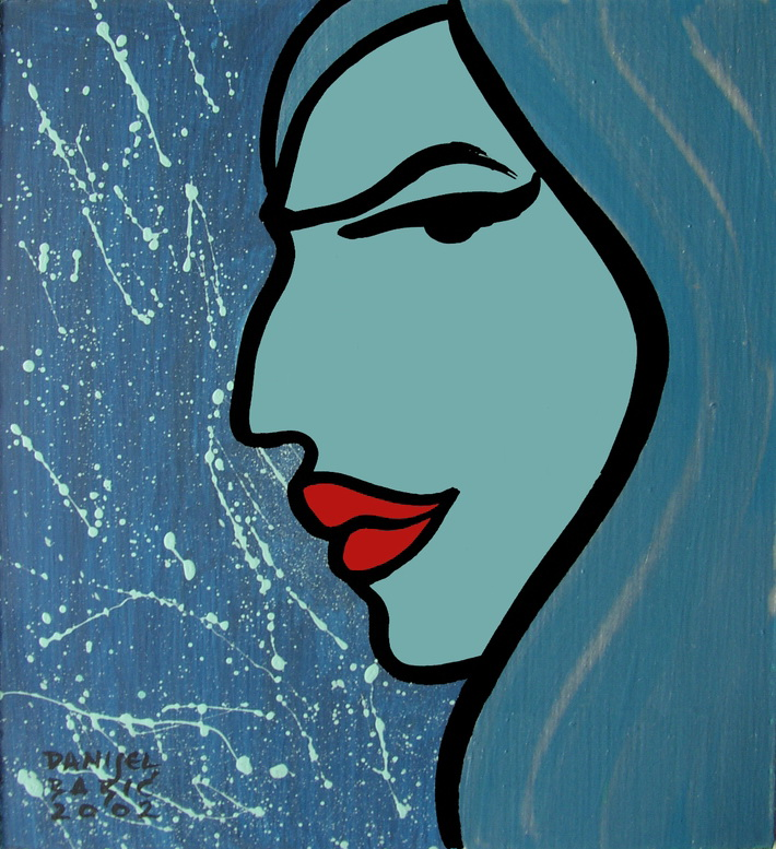 Profile 2, 2002, 18x16 cm, acrylic on masonite
