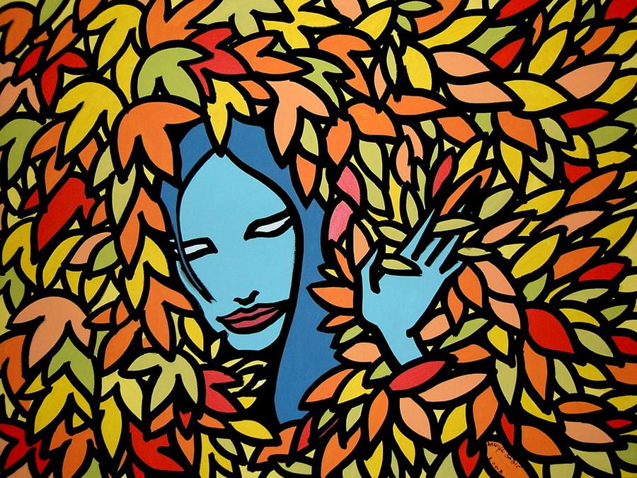 Fairy in the bush, 2002, 80x60 cm, acrylic on canvas