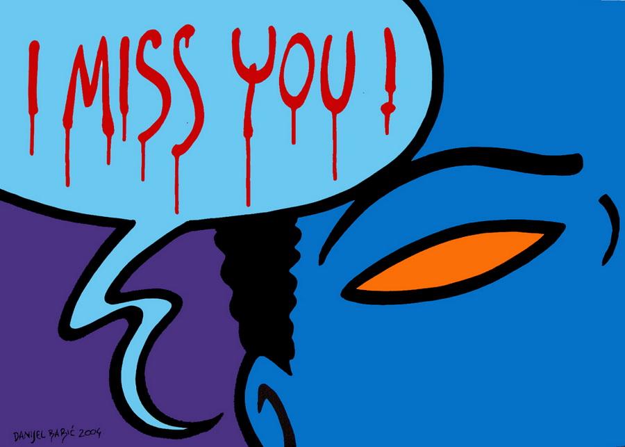 I miss you !, 2004, 50x70 cm, acrylic on canvas