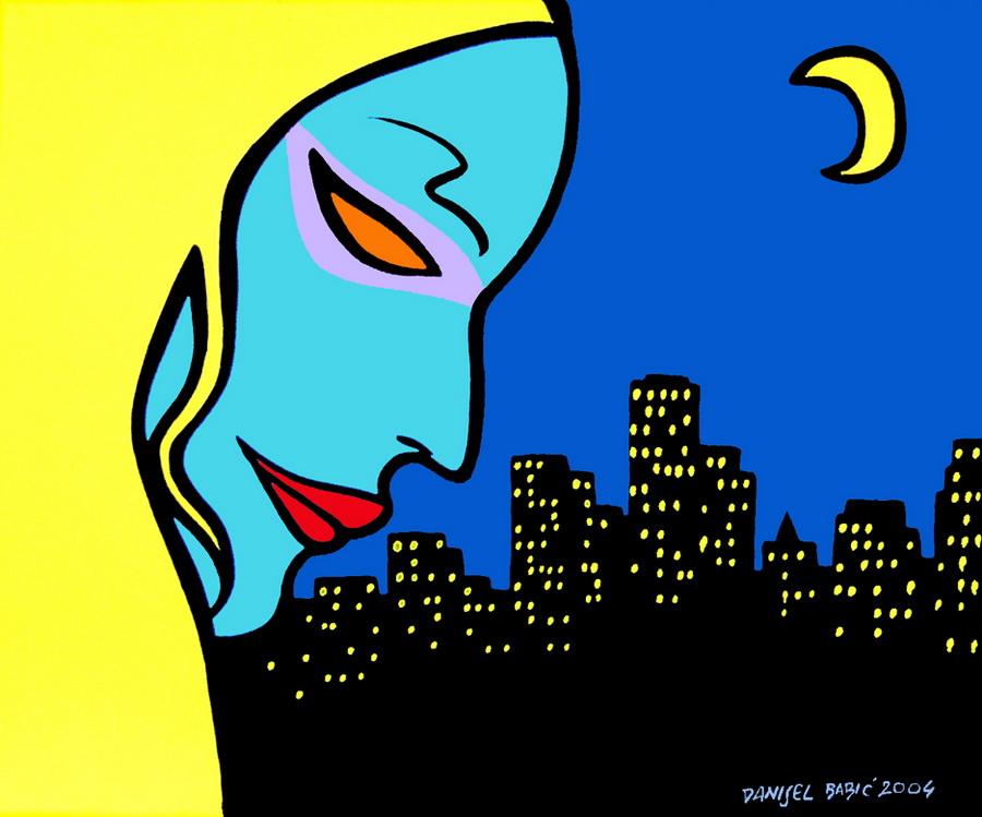 Night, 2004, 33x41 cm, acrylic on canvas