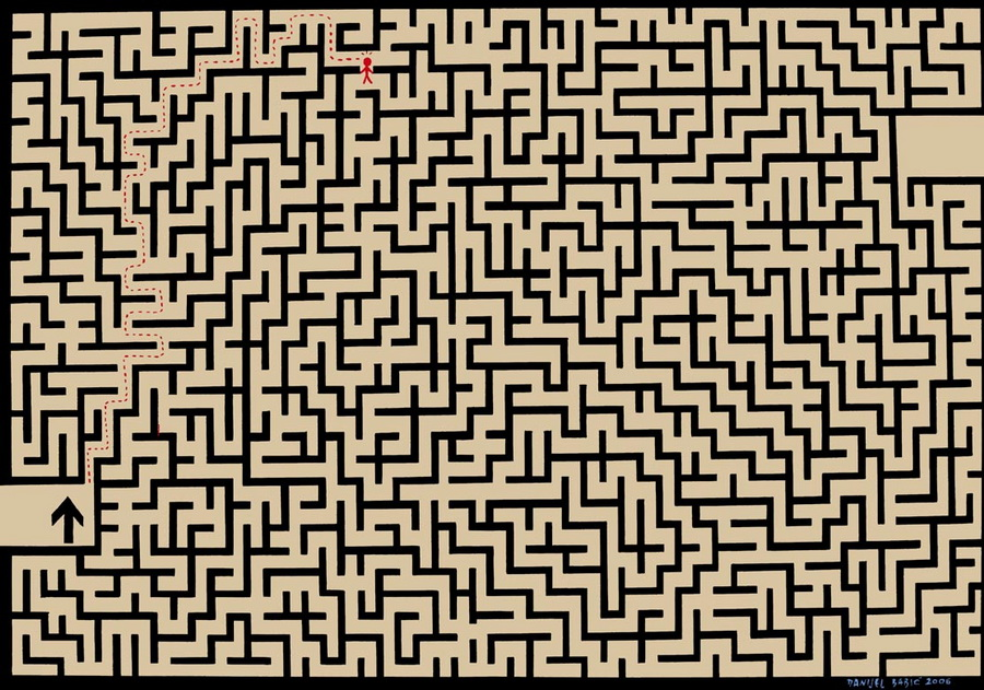 Labyrinth, 2006, 70x100 cm, acrylic on canvas