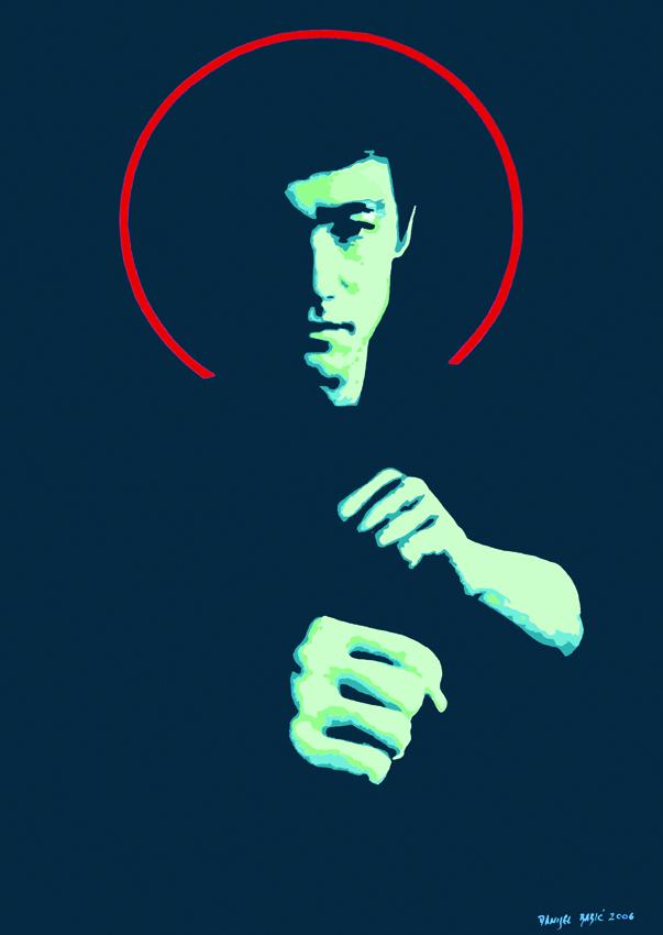 Bruce Lee,2006, 100x70 cm, acrylic on canvas