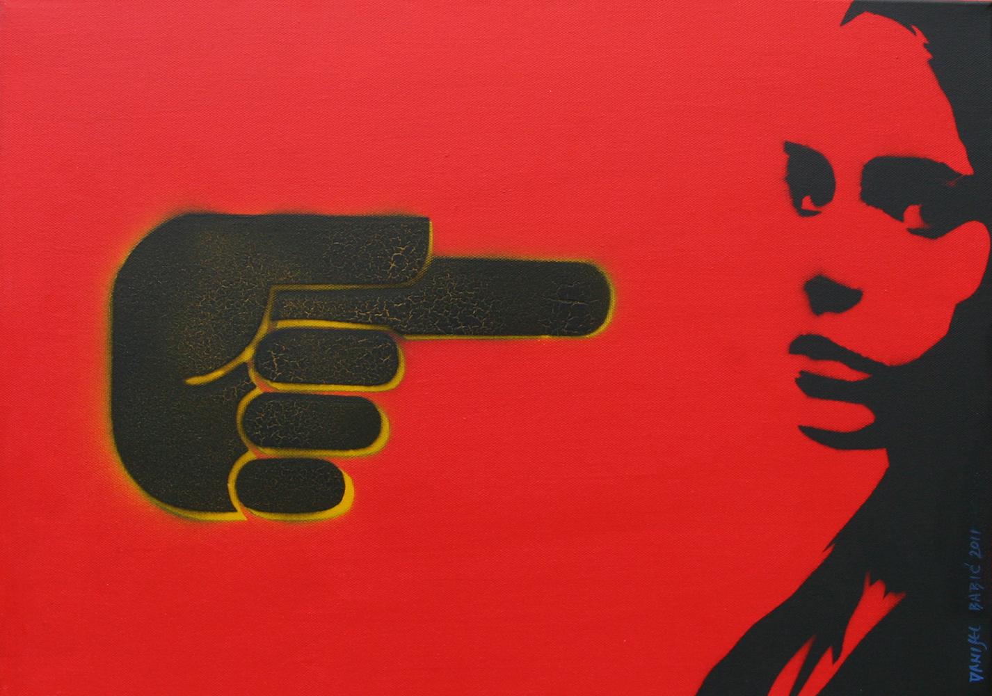 No title, 2011, 35x50 cm, acrylic & spray on canvas