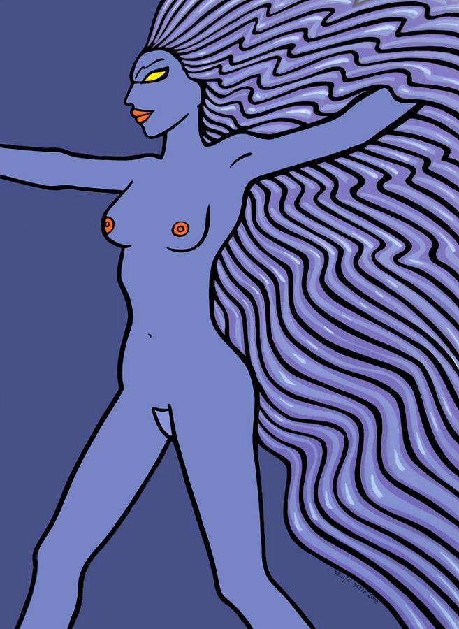 Nude, 2008, 100x70 cm, acrylic on canvas