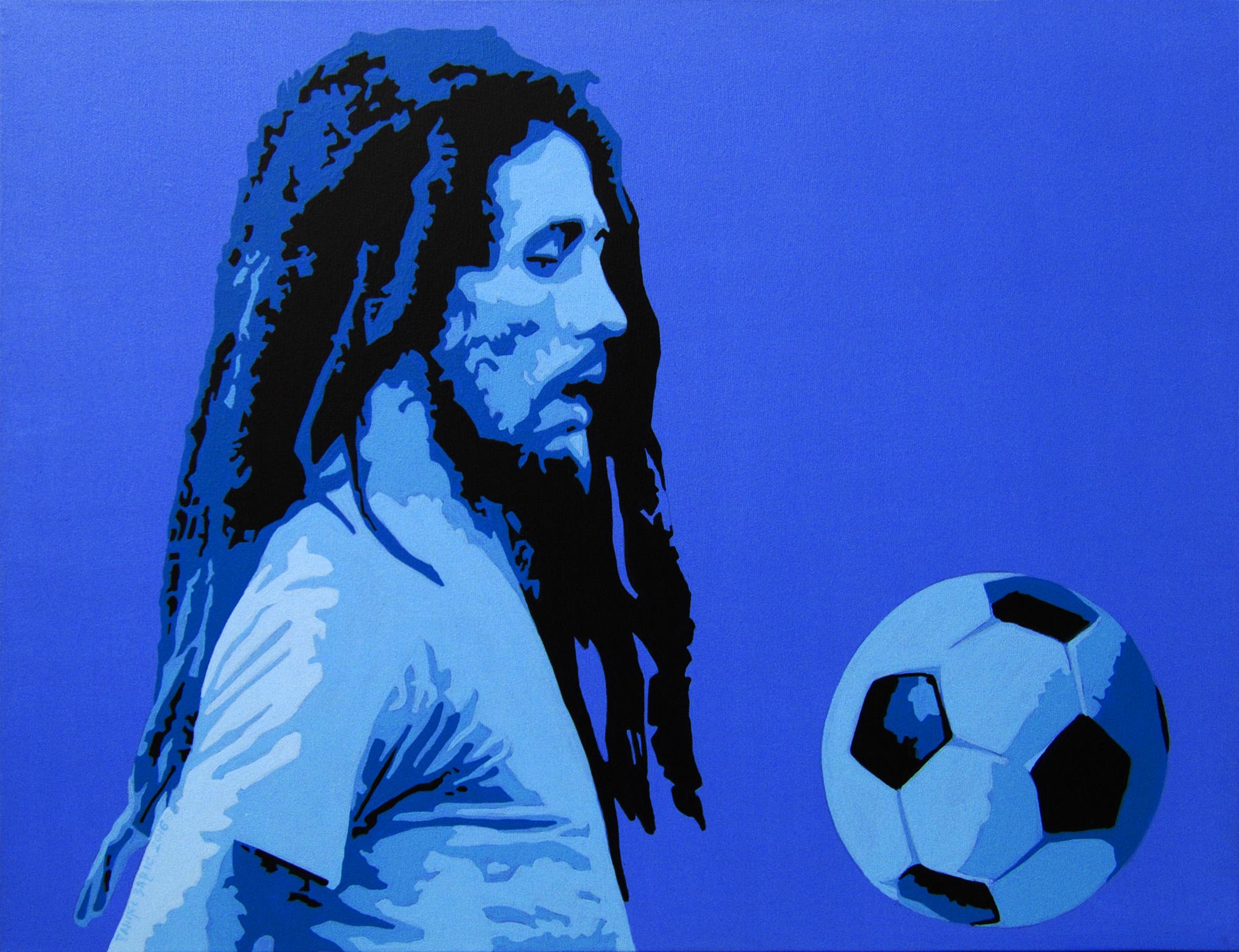Football Marley, 2016, 60 x 80 cm, acrylic on canvas