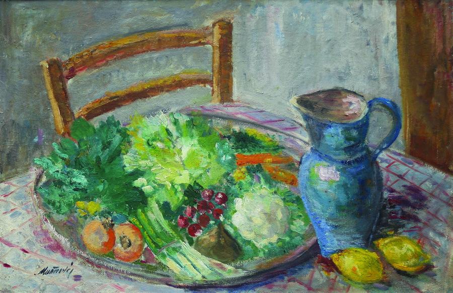 Anica Muačević-Reizer - Povrće, 1921., ulje na lesonitu, 47x72.jpg