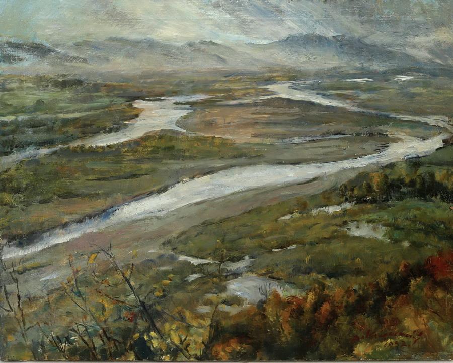 Anka Krizmanić - Savski rukavci kod Podsuseda, 1952., ulje na platnu, 48x59.JPG