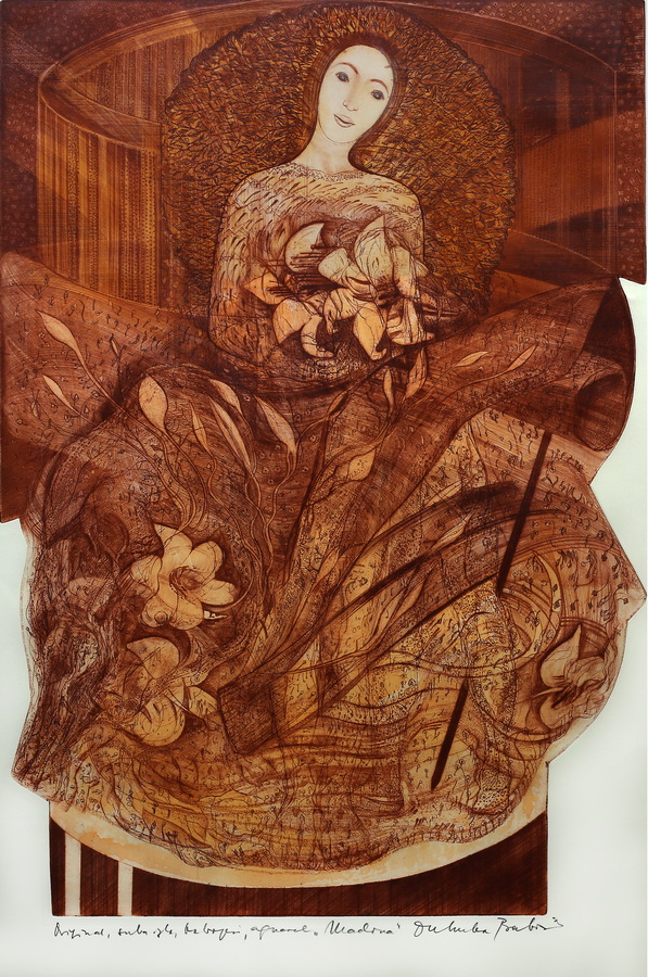 Dubravka Babić - Madona, 2. pol. 20. st., suha igla, bakropis, 79x53,5.jpg
