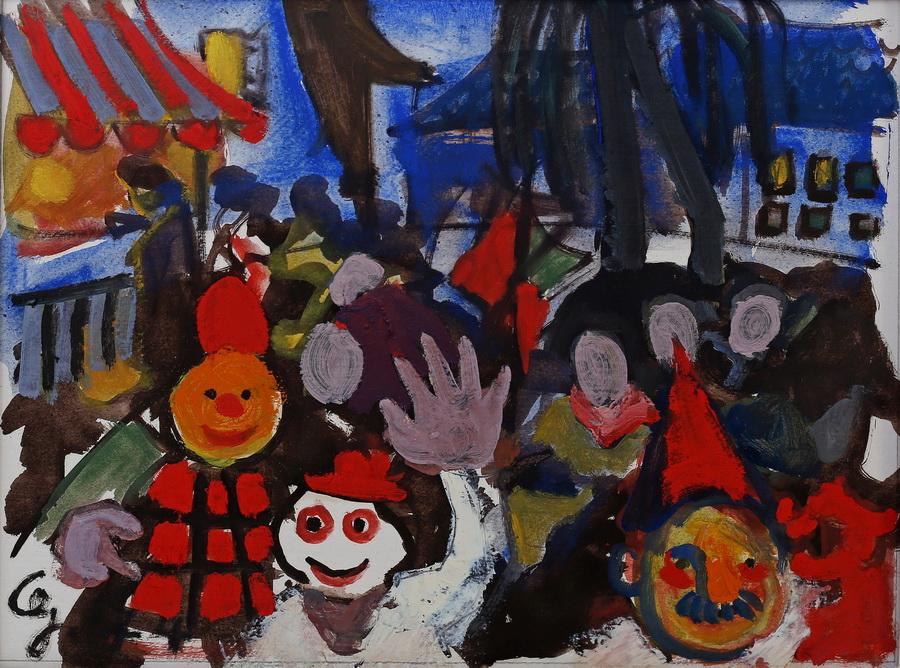 Georgina Juriša Čovran - Samoborski karneval II, 1974., gvaš, 37x28,5.jpg