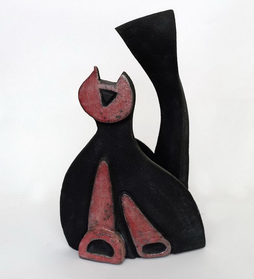 Irena Podvorac - Mačka, 2004., keramika, v. 36.JPG