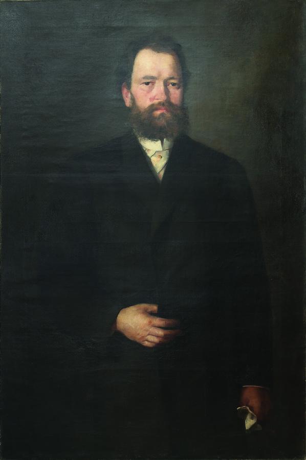 Ivana Kobilca - Portret dr. Lovre Vidrića, 2. pol. 19. st., ulje na platnu, 118x81.jpg