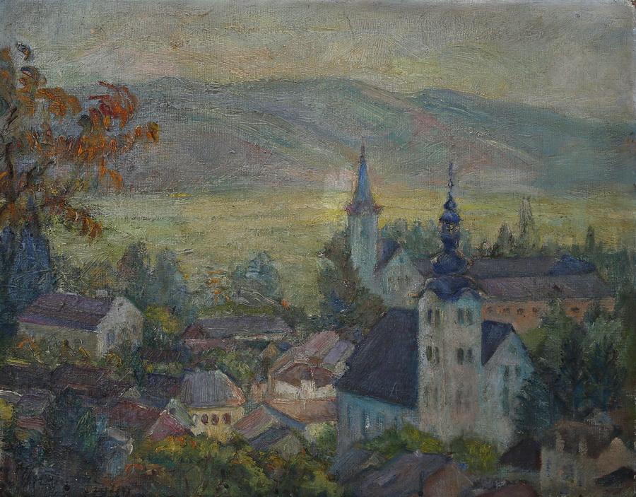 Ivka Oresković - Pogled na Samobor, 1949., ulje na platnu, 50x40.jpg