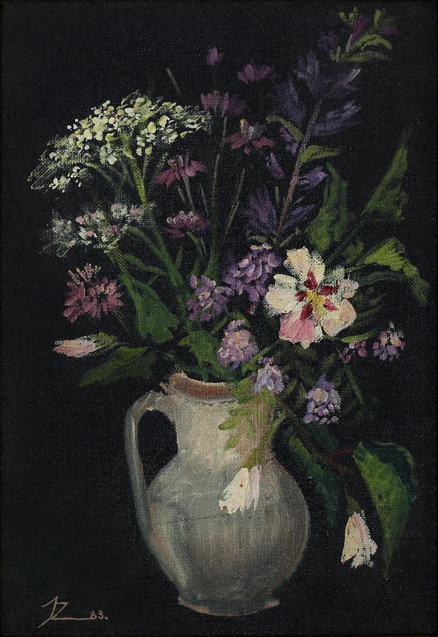 Jasna Zagoda - Cvijeće, 1983., ulje na platnu, 37x26.jpg