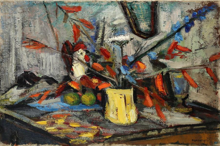 Mila Kumbatović - Mrtva priroda, 1954., ulje na platnu 49x70.jpg