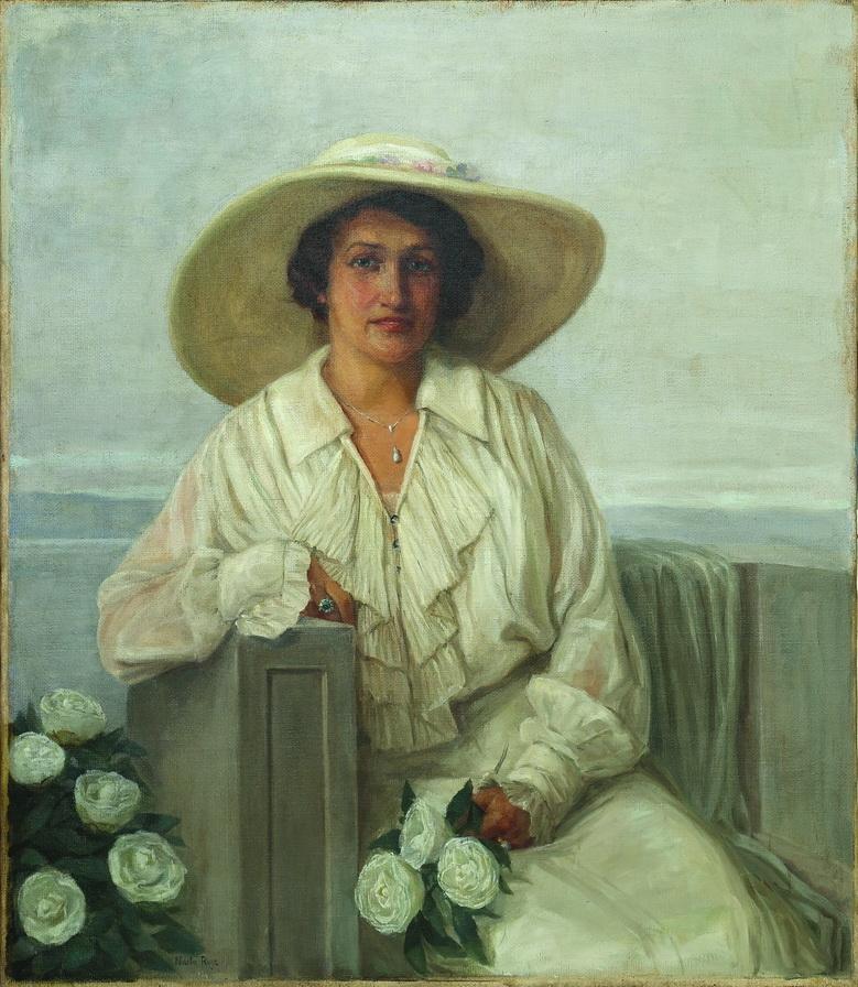 Nasta Rojc - Portret Maje Strozzi - Pečić, prva pol. 20.st., ulje na platnu, 119x98.jpg