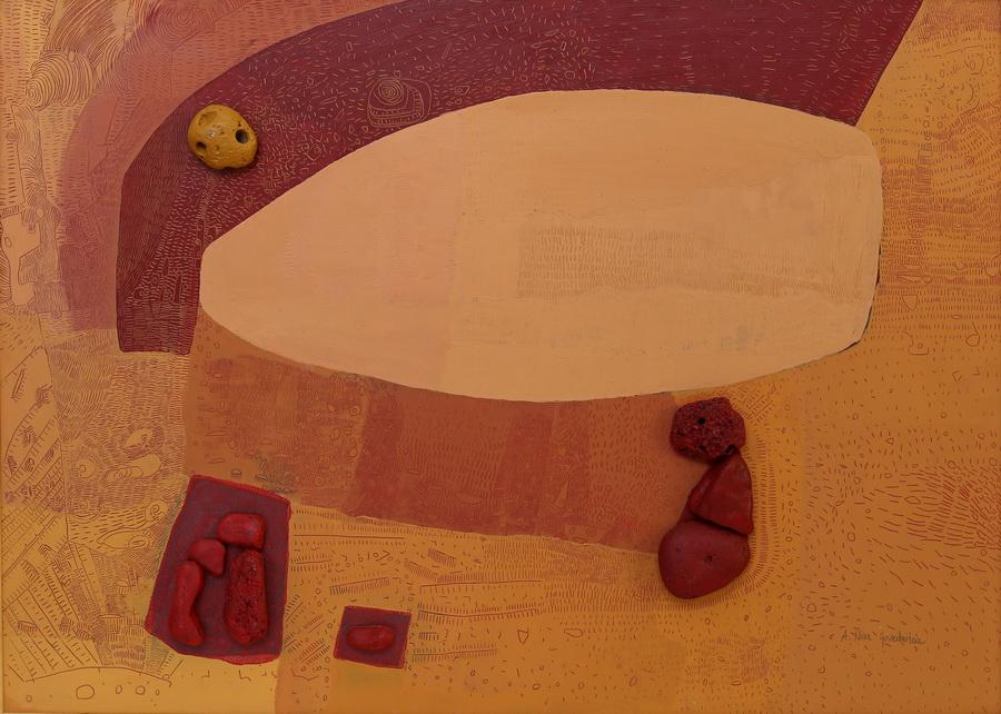 Nina Govedarica - Mudrac I, 2004., drvo, keramika, 49,5x69.jpg