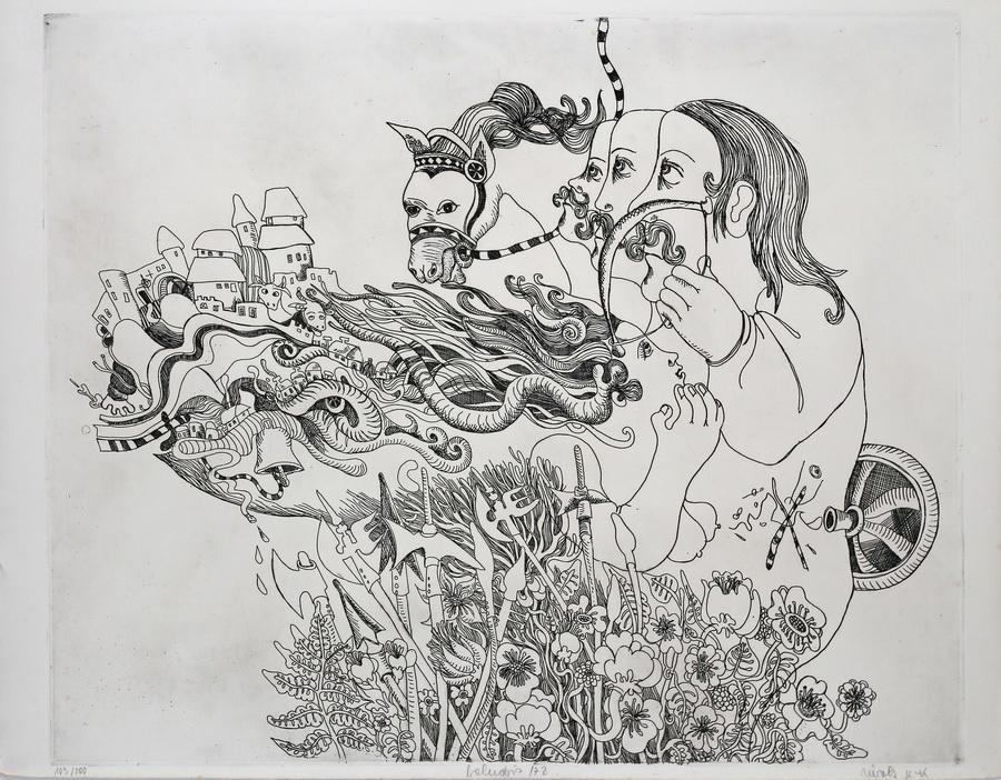 Nivec Kavurić-Kurtović - Bez naslova, 1972. (iz grafičke mape Kervave kronike glas), bakropis, 65,5x50,5.jpg