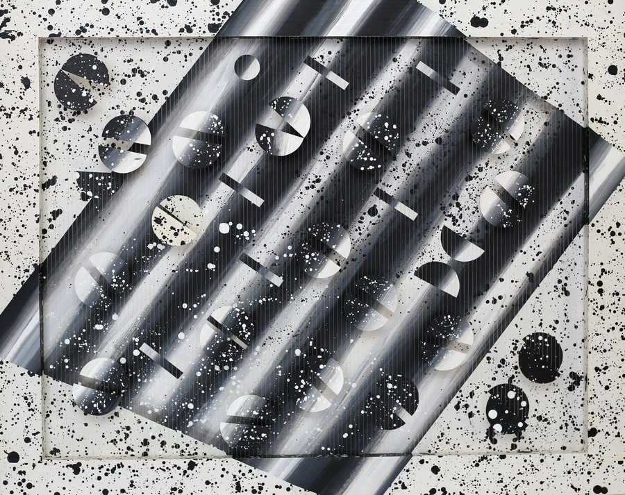 Vesna Kovačić - Dijagonalno, 1988., drvo karton, najlonski konac, 60x75.jpg