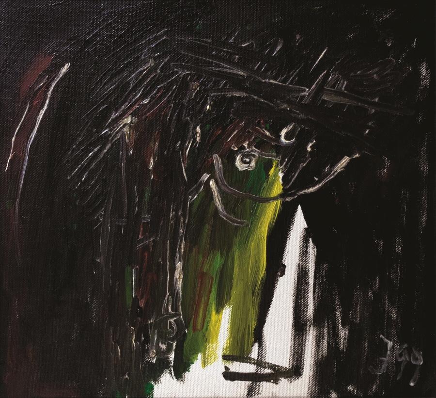 Autoportret (1208), 1999., ulje platno 48x52cm
