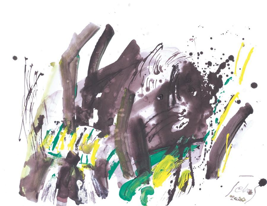 Bez naziva (22), 2000., tempera, ulje, karton, 54x70cm