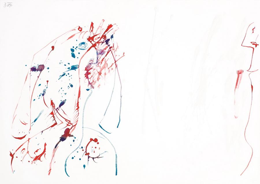 Bez naziva (2383), 1989., tempera, karton, 50x70cm