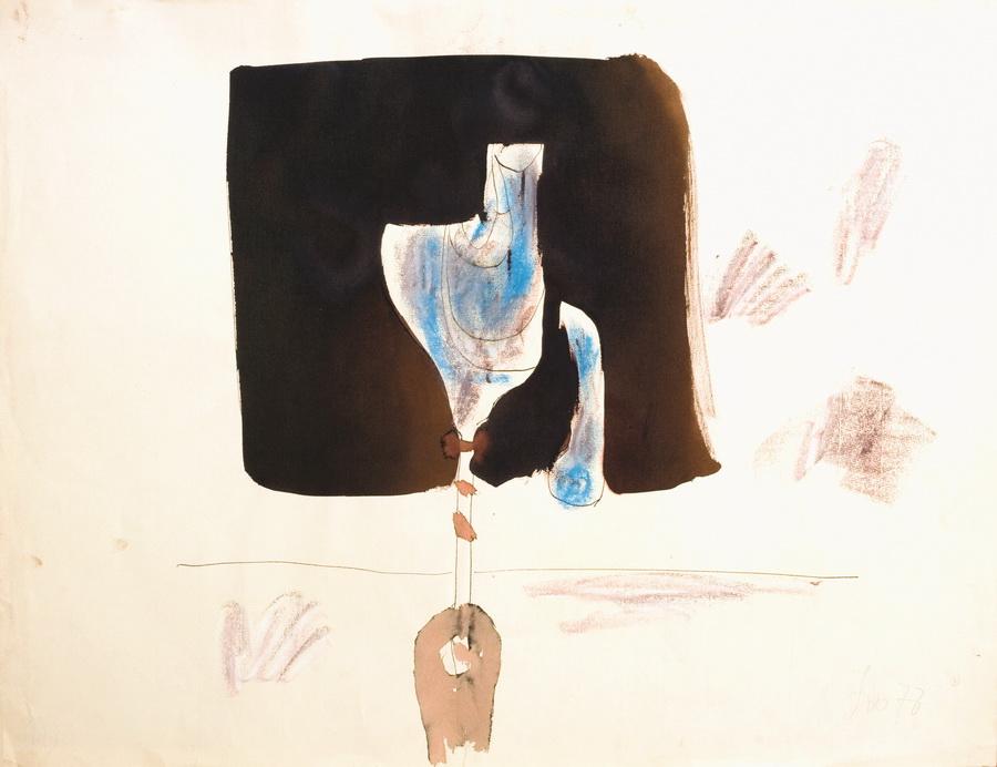 Cvijet 23 (472), 1978., akvarel, pastel, papir, 48x62cm
