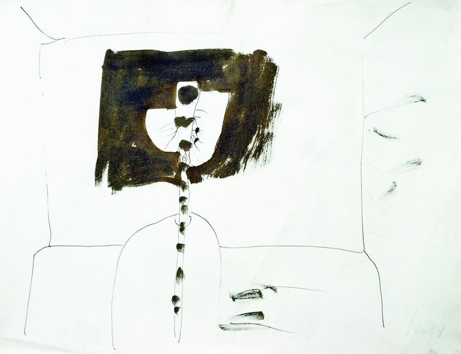 Cvijet 3 (452), 1978., akvarel, papir, 48x62cm