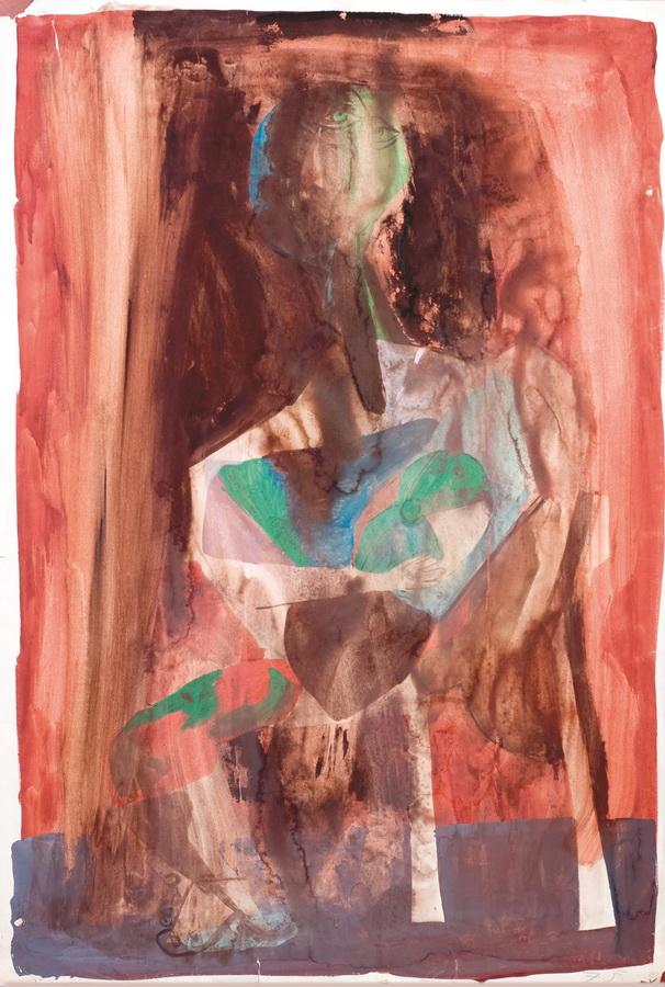 Dječak (9), 1950-55, tempera, papir, 99x67,5cm