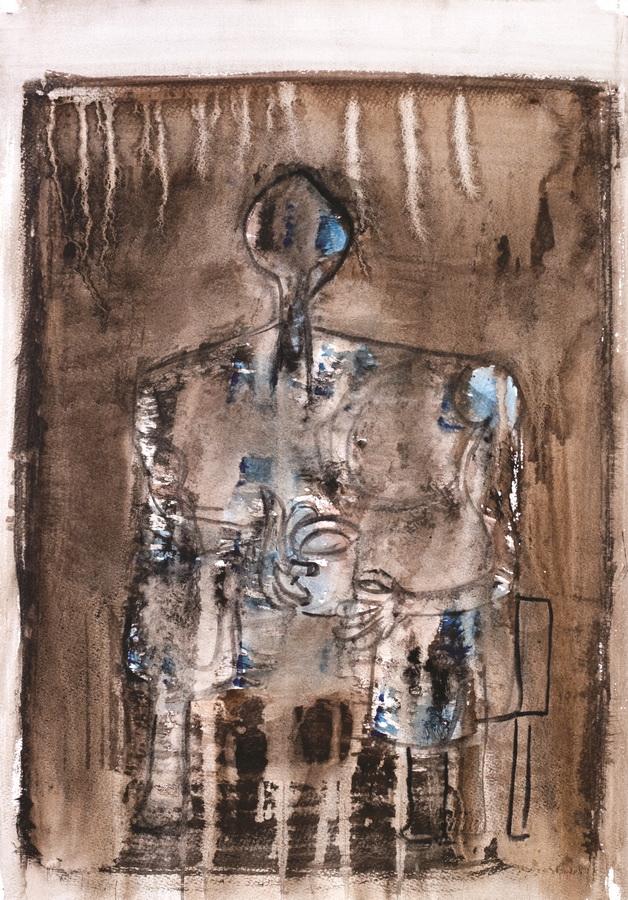 Figura (75), 1950., močilo tempera papir, 59,5x42cm