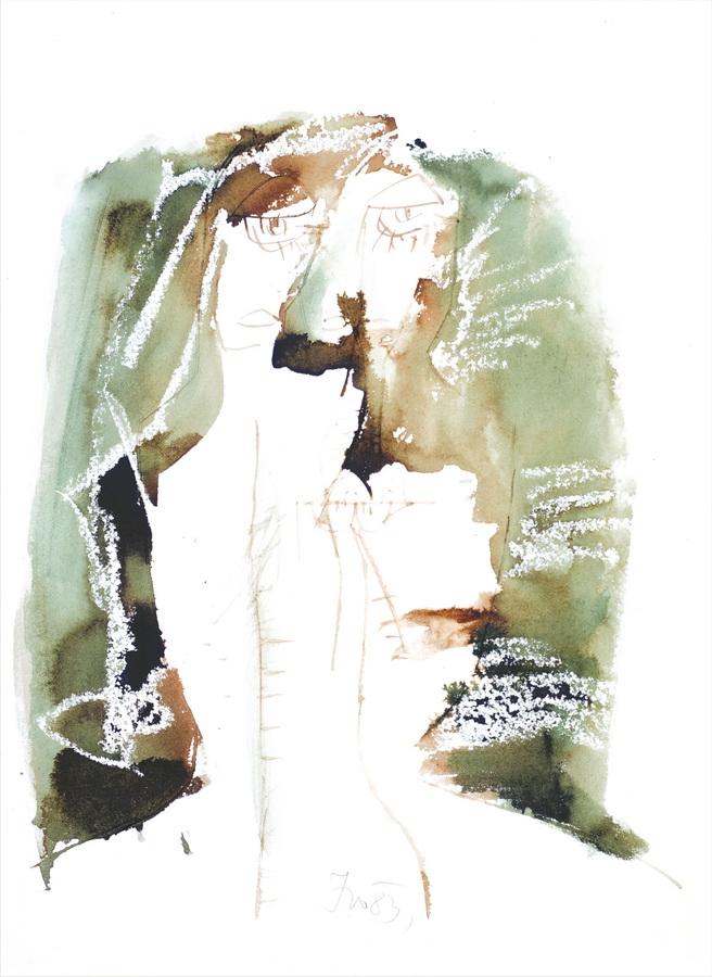 Glava (751), 1983., močilo, papir, 62,5x44,5cm