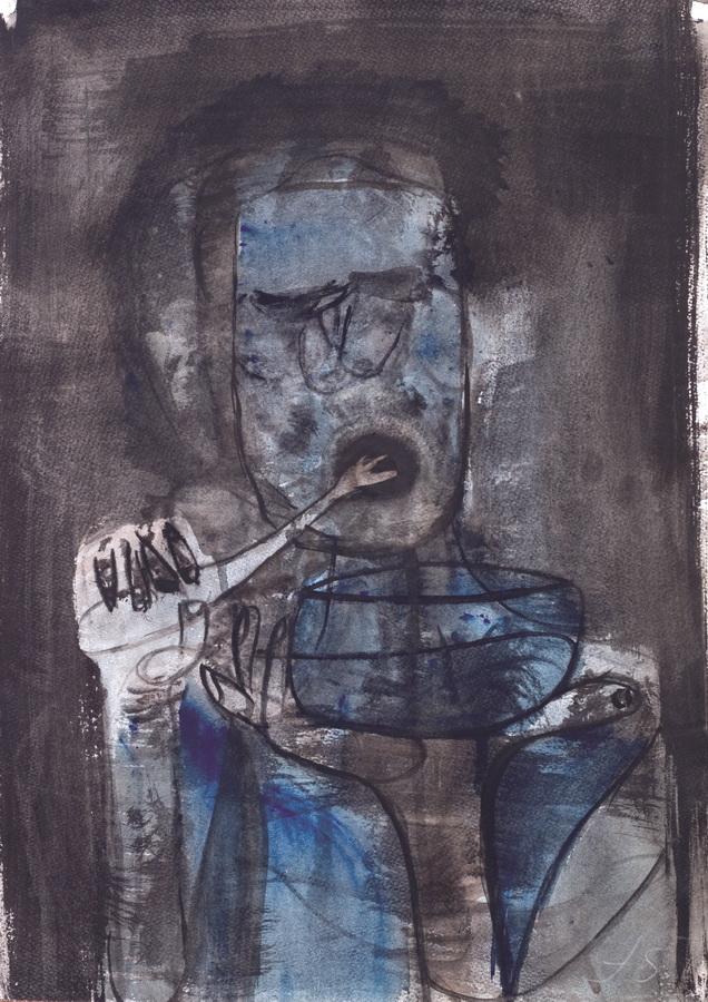 Hrana (78), 1950, močilo tempera papir, 59,5x42cm