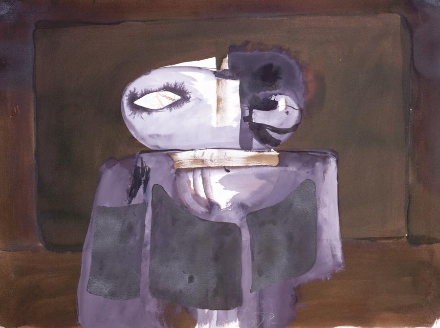 Janjeća glava 78 (106), 1978., tempera, papir, 56x76,5cm
