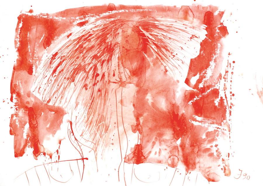Lubanja (2480), 1989., močilo, tempera, karton, 50x70cm