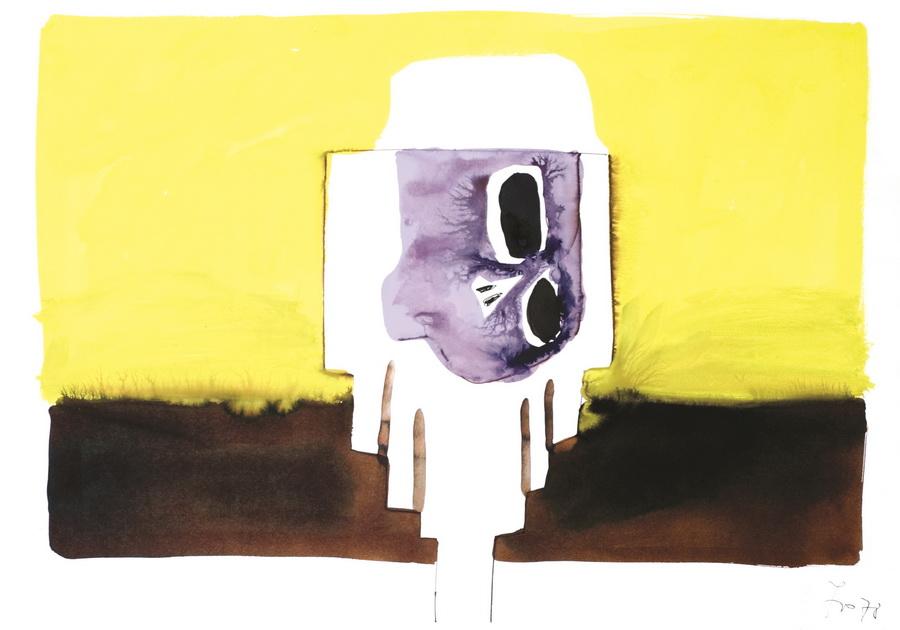 Lubanja 36 (199), 1978., tempera, papir, 59,5x84,5cm