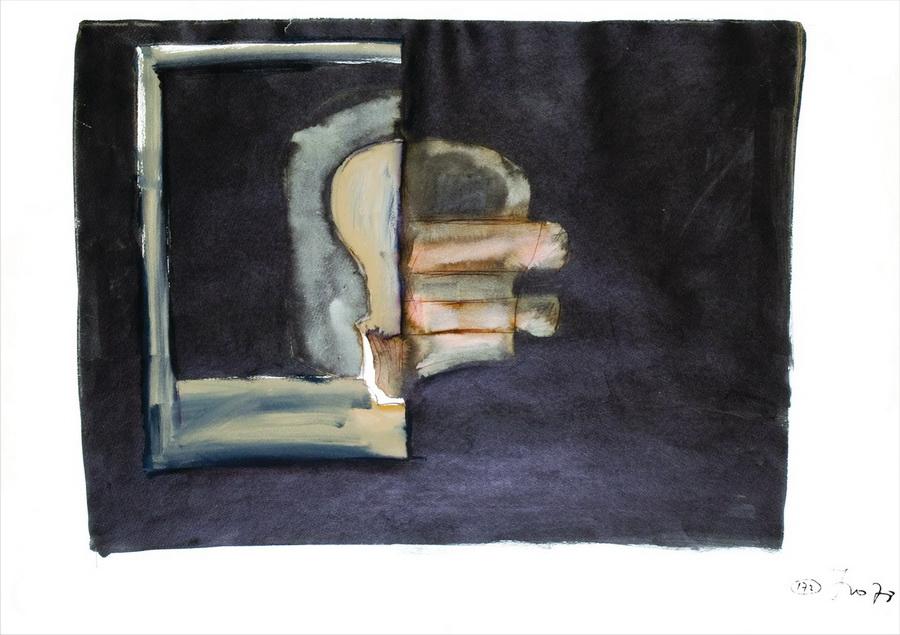 Lubanja-Glava (172), 1978., tempera, papir, 61x84cm