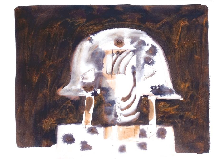 Osvajač, 1978., tehnika, tempera, močilo, papir, 56x75cm