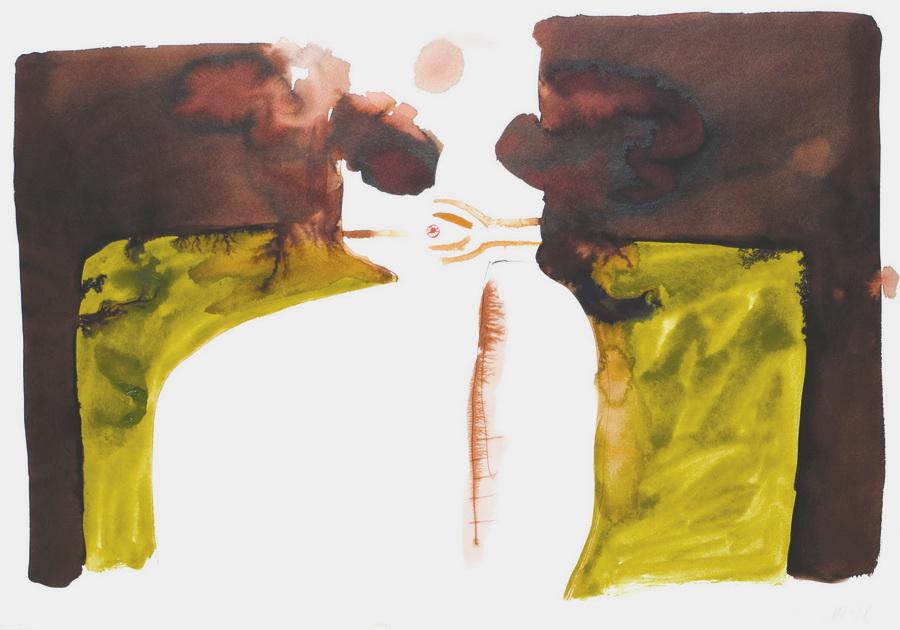 Pušač 1 (242), 1978., tempera, papir, 59x84cm
